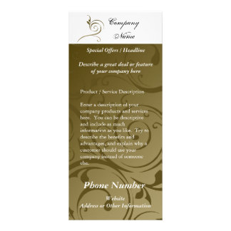 Custom Rack Card, Chocolate Swirl Design, Printing Rack Card