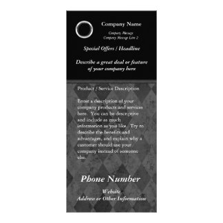 Custom Rack Card, Classic Black Design, Print Your Rack Card