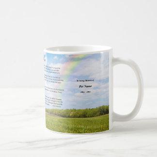 Custom Rainbow Bridge Mug, MALE Dog Coffee Mug