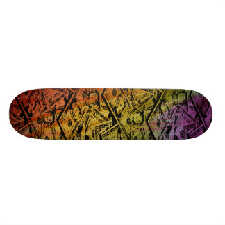 Custom Rainbow Money Skateboard