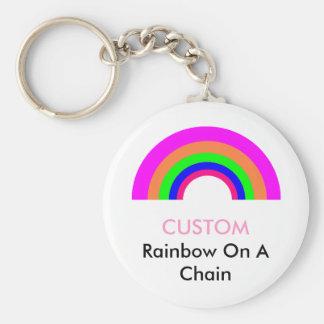CUSTOM Rainbow On A Chain Keychain