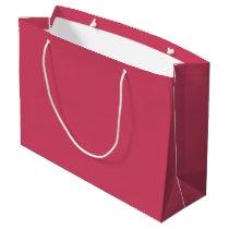 Custom Raspberry-Colored Gift Bag - Large, Glossy