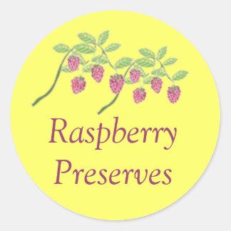 Custom Raspberry Fruit Preserves Canning Sticker