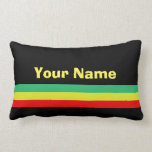 Custom Rasta-striped Home Decor Lumbar Pillow at Zazzle
