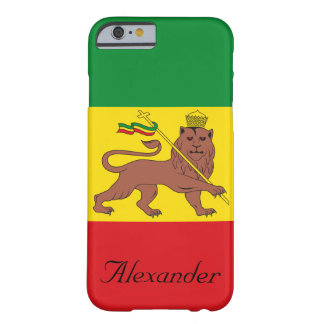 Custom Rastafarian Flag of Ethiopia Lion of Judah Barely There iPhone 6 Case