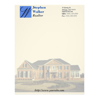 Custom Real Estate Stationary Letterhead