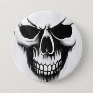 custom reaper skull button white