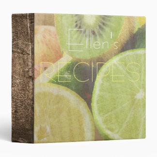Custom Recipe Book 3 Ring Binder