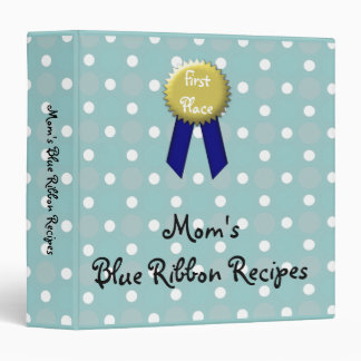 Custom Recipe Book, Grandma'Mom's Blue Ribbon 3 Ring Binders