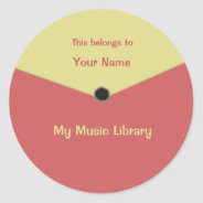 Custom Record Label Center Label Sticker at Zazzle