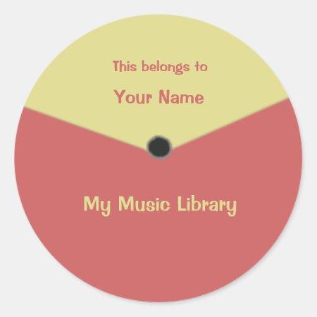 Custom Record Label Center Label Sticker