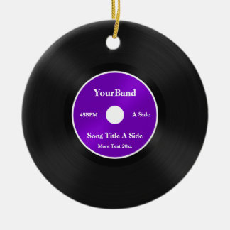 Custom Record Personalize Ceramic Ornament