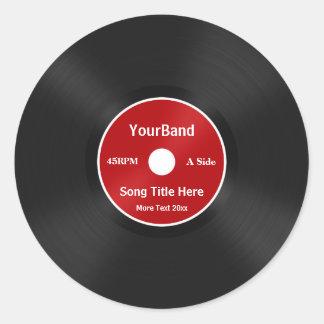 Custom Record Personalize Classic Round Sticker