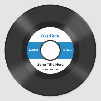 Custom Record Personalize Classic Round Sticker