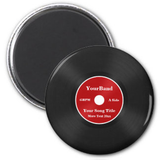 Custom Record Personalize Magnet