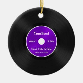 Custom Record Personalize Ornaments