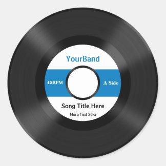 Custom Record Personalize Round Sticker