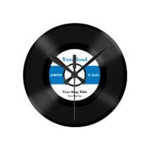 Custom Record Personalize Round Wall Clocks
