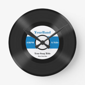 Custom Record Personalize Round Wall Clocks