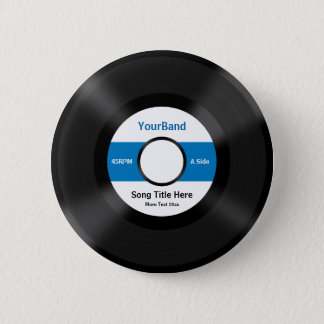 Custom Record Pinback Button