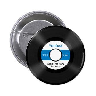 Custom Record Pinback Button
