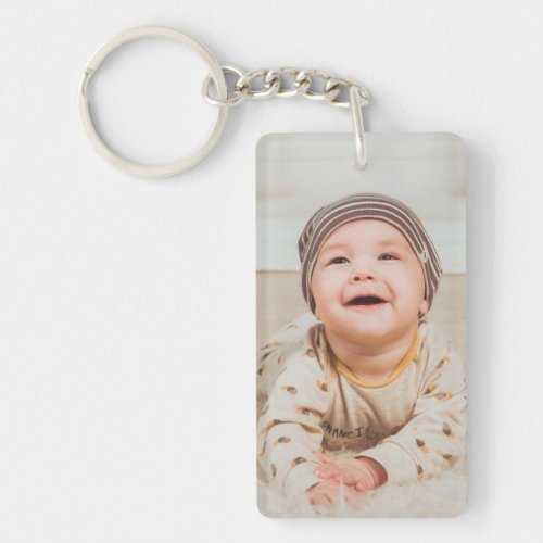 Custom Rectangle Keychain Add your own images
