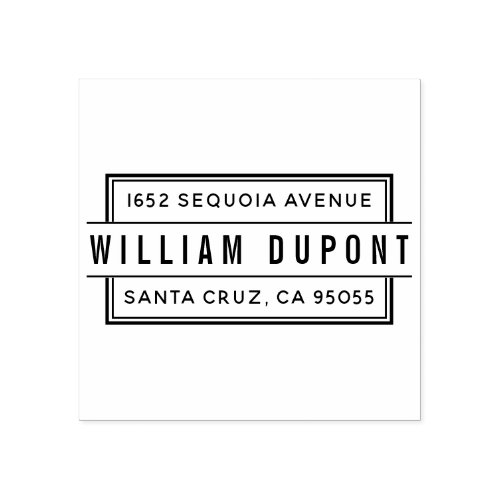 Custom Rectangular Single Person Return Address Rubber Stamp