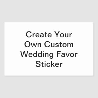 Custom Rectangular Wedding Favor Sticker