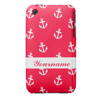 Custom Red Anchor iPhone 3 Case-Mate Case