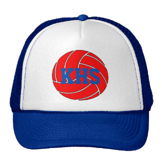 Custom Red and Blue Volleyball Baseball Cap Hat
