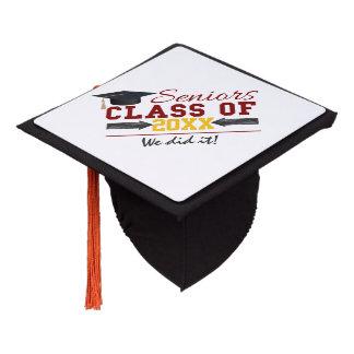 Custom Red and Yellow Graduation Tassel topper