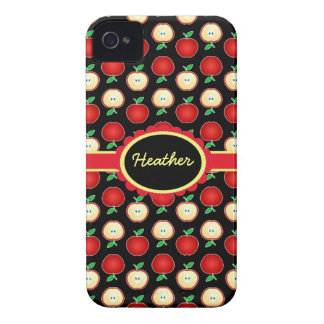 Custom Red Apples iPhone 4 Barely There Case Case-Mate iPhone 4 Cases