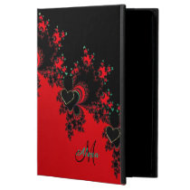 Custom Red Black Heart Fractal iPad Air 2 Case