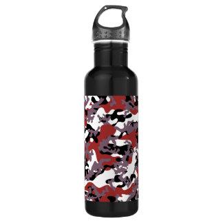 Custom Red Camo Aluminum Stainless Steel Water Bottle