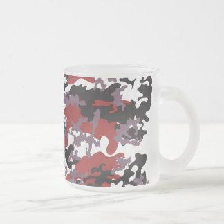 Custom Red Camo Frosted Coffee Mug