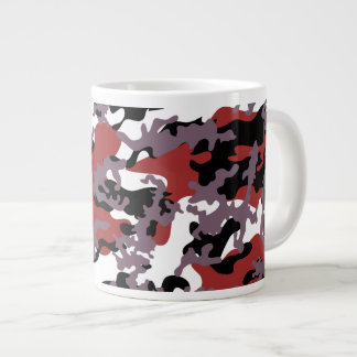 Custom Red Camo Glass Jumbo Mug