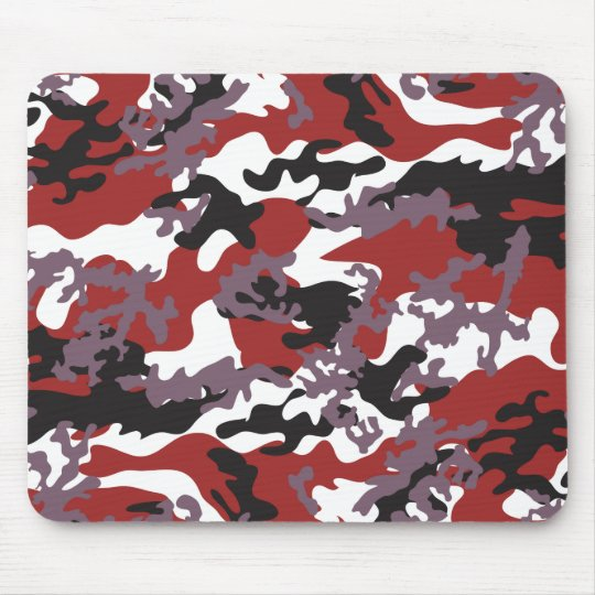 Custom Red Camo Mousepad