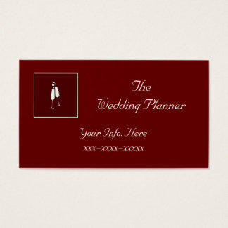 Custom Red Champagne Business Card