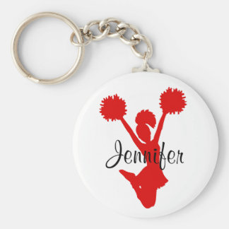 Custom Red Cheerleader Key Chain