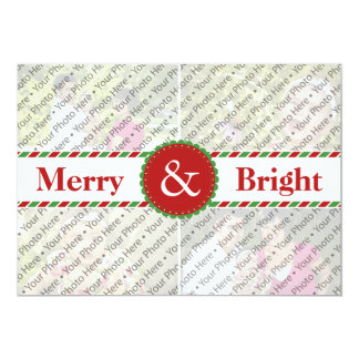Custom Red Christmas Photo Collage Greeting Card Custom Invites