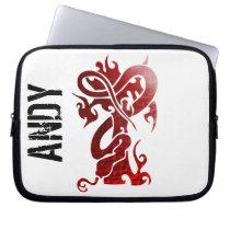 Custom red dragon laptop sleeve