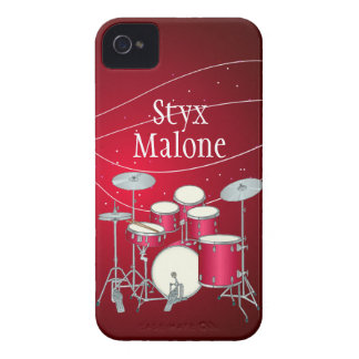 Custom Red Drums iPhone 4 Barely There Case