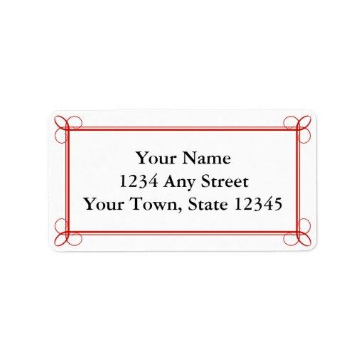 envelope mailing labels custom red envelope pre addressed mailing