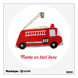 fire truck wall decals amp wall stickers zazzle wall decal awesome fire truck wall decals fire truck
