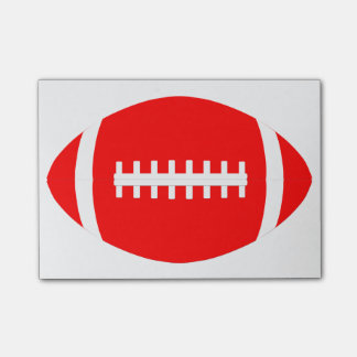 Custom Red Football Post-it Notes