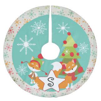 Custom Red Fox Christmas Holiday Tree Skirt