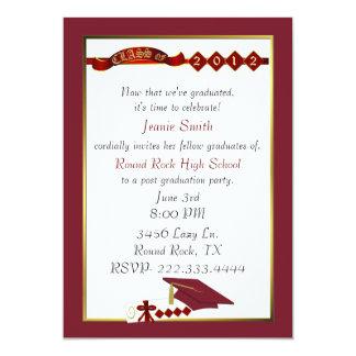 Custom Red Graduation Party Invitation