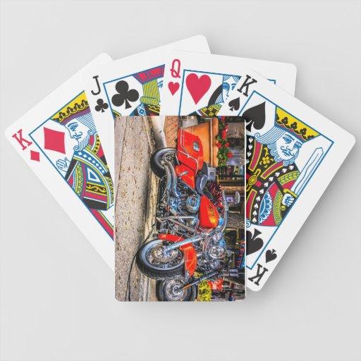 Custom red hog Motorcycle Deck Of Cards
