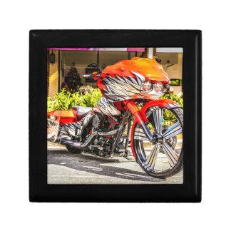 Custom red hog Motorcycle Trinket Box