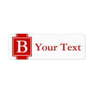 Custom Red Monogrammed Labels or Gift Tags